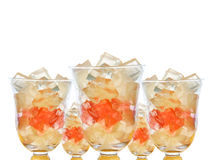 Lemonade gelatin cube treat Royalty Free Stock Image