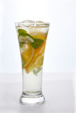 Lemonade in a glass. Lemonade with ice and mint in a glass Royalty Free Stock Photography