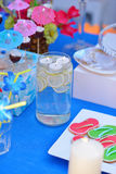Lemonade in a glass royalty free stock photos