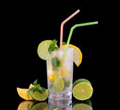 Lemonade in glass Stock Images