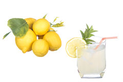 Lemonade glass Stock Photos