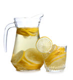 Lemonade and glass Royalty Free Stock Images