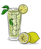 Lemonade glass Stock Images