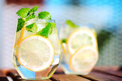 Lemonade in glass Royalty Free Stock Image