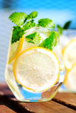 Lemonade in glass Royalty Free Stock Images