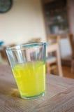 Lemonade in glass Stock Photo