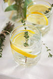 Lemonade with herbs Royalty Free Stock Images