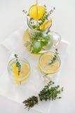 Lemonade with herbs Stock Photos