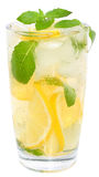 Lemonade with ice cubes Royalty Free Stock Photo