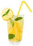 Lemonade with ice cubes Stock Images