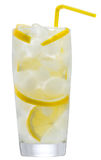 Lemonade with ice and lemon Royalty Free Stock Photos