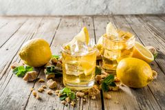 Lemonade or iced summer tea stock image