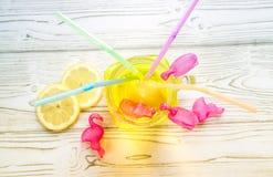 Lemonade in jar stock image