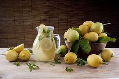 Lemonade jar Stock Image