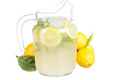 Lemonade jug royalty free stock photography