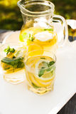 Lemonade in the jug Stock Photography