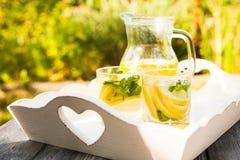 Lemonade in the jug Royalty Free Stock Image