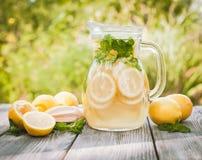 Lemonade in the jug Stock Images