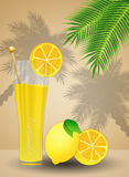 Lemonade juice for summertime Royalty Free Stock Image