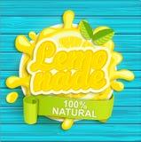 Lemonade label splash. Royalty Free Stock Image