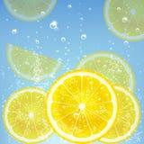 Lemonade. With lemon and bubbles Stock Images