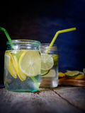 Lemonade Lemon Lime in the bank Royalty Free Stock Photography