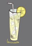 Lemonade, lemon slice, soft drink Royalty Free Stock Photo