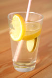 Lemonade with lemon slices in a glass Royalty Free Stock Photos