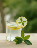 Lemonade or lemon squash as summer beverage to quench your thirs Stock Photos