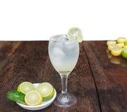 Lemonade. Lemon yellow with health benefits Stock Images