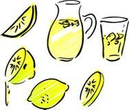 Lemonade and lemons Stock Photos