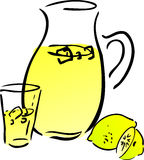 Lemonade and lemons Stock Photography