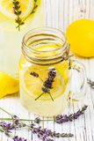 Lemonade with Lemons and Lavender stock photography