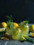 Lemonade with lemons and lime Stock Photo