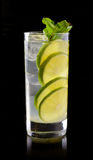 Lemonade with lime and ice Stock Image