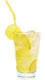 Lemonade with lime and ice cubes Royalty Free Stock Photography