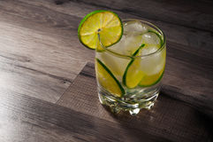 Lemonade with lime Stock Images