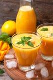 Lemonade with mango and mint Royalty Free Stock Image