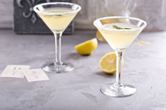 Lemonade martini with rosemary Stock Image