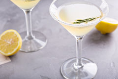 Lemonade martini with rosemary Stock Images