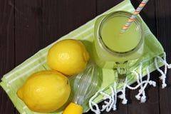 Lemonade in a mason jar Royalty Free Stock Photos