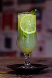 Lemonade and Mint. Fresh Lemonade with Mint Leaves Royalty Free Stock Photography