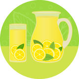 Lemonade with mint Stock Photos