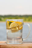 Lemonade with mint in a glass Stock Photography