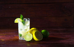 Lemonade with mint and ice Royalty Free Stock Photo