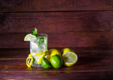 Lemonade with mint and ice Stock Photography