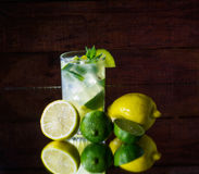 Lemonade with mint and ice Royalty Free Stock Photos