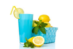 Lemonade with mint leaves Royalty Free Stock Image