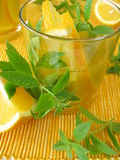 Lemonade with oranges and lemon verbena Royalty Free Stock Image