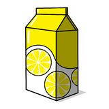 Lemonade paketerar illustrationen Arkivfoton